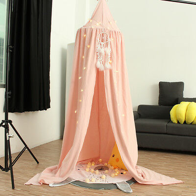 Pink Canopy Bed Netting Mosquito Bedding Net Round Dome Baby Kids Tents Cotton