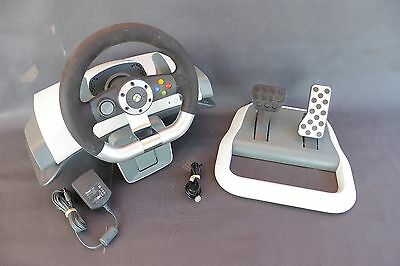 Xbox 360 Volant+Pedalier/wrw02/wireless Racing Wheel With Force Feed Back