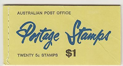 AUST. STAMP $1 BOOKLET With 5c on 4c RED Queen Stamps. HAS WAX INSERTS SB41ab