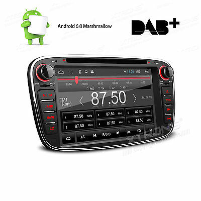 "2 DIN 7"" Android 6.0 Car DAB+ Sat Nav GPS CD DVD Stereo Ford Focus/Mondeo/S-Max"