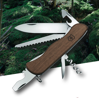 Forester wood Victorinox,new, 2017, collector, pocket knife, swiss army walnut