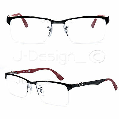 72470df2163 ... wholesale ray ban rb 8411 2509 carbon fiber half rimless 56 17 140  eyeglasses 8f93c e9096