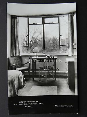 RUGBY William Temple College STUDY ROOM c1960/70's RP Postcard by R. Hamblin