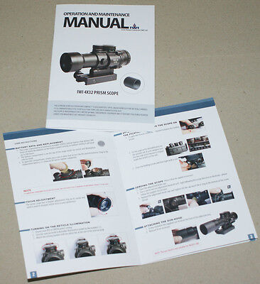 1 4x32 Prism Scope Operation & Maintenance Manual, as on 2 pictures