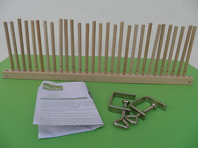 Peg Loom Weaving Frame -  Wooden with Clamps to fix to Table - 50 cm