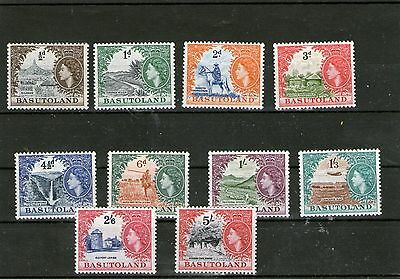 Basutoland Mint Stamp Queen Elizabeth 11 1954 Sg43 - 52 Up To 5 Shillings