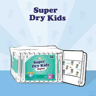ABU Super Dry Kids v2 Adult Nappies/Diapers Large - Pack of 10