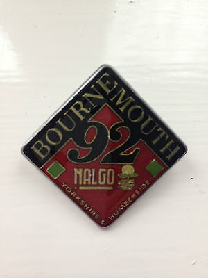 Yorkshire and Humberside NALGO 1992 conference Bournemouth trade union badge