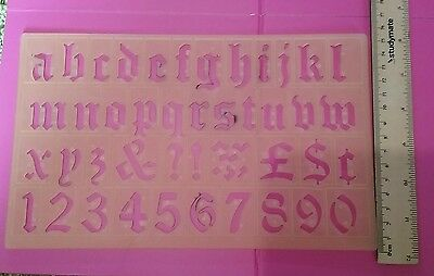 Plastic alphabet letters toy drawing stencil