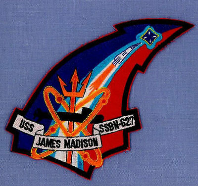 USS JAMES MADISON SSBN 627 NUCLEAR SUBMARINE Navy Military Patch MISSILE LAUNCH