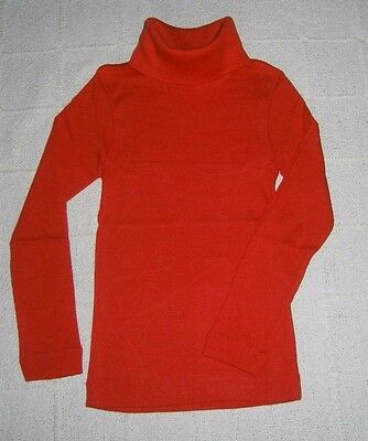 Vintage Stretch Polo-Neck Top - Age 2-4 - Cherry Red  - Cotton/Poly - New