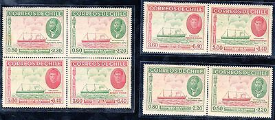 NX30 - Chile 1940 50 years Occupation Easter Island Local Hospital Fund 8 stamps