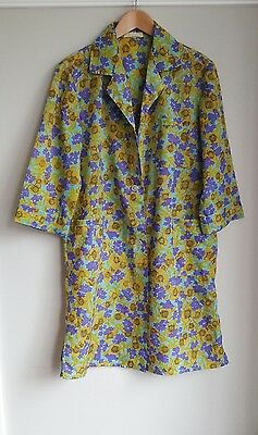 Vintage Lightweight Floral Duster Jacket with 3/4 Sleeves