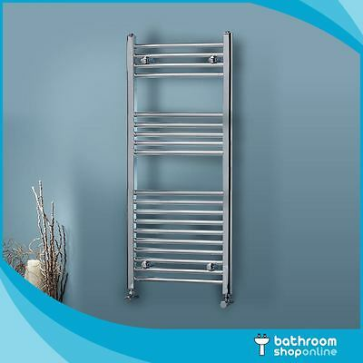 Chrome Heated Towel Rail Rad Radiator Bathroom Central Heating Flat Straight