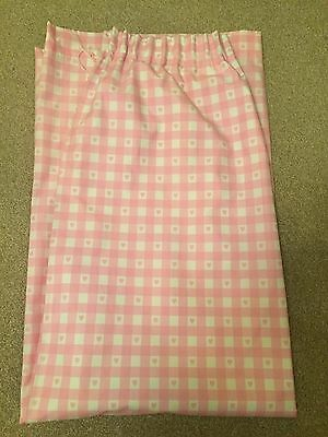 Next Pink Gingham Heart Girls Bedroom Curtains 117 X 183cm