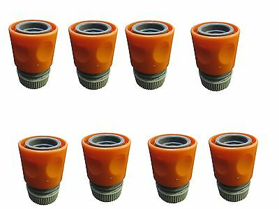 """1/2"""" 12mm Garden Hose Snap In Quick Connector HD AB Plastic w/ Stainless Springs"""