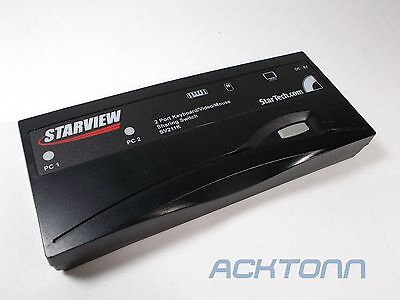 Star Tech Starview 2 Port Desktop KVM Switch CBEDE8CEA72 SV211K ACKTONN