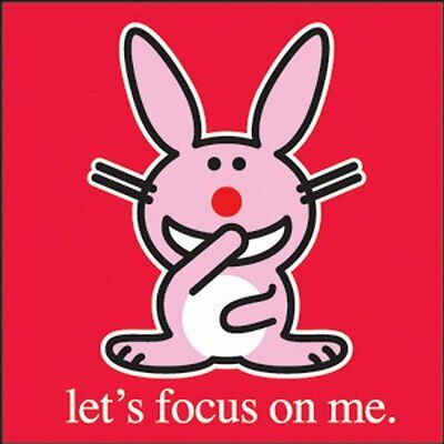 Happy Bunny Focus Button B-HB-0001