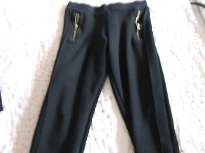Girls small bundle 2 pairs trousers/thick treggings F+F/H+M 7-8y 9-10y  GUC