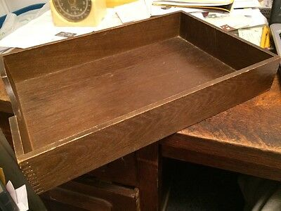 Wooden Stationary Desk Inbox Letter File Tray