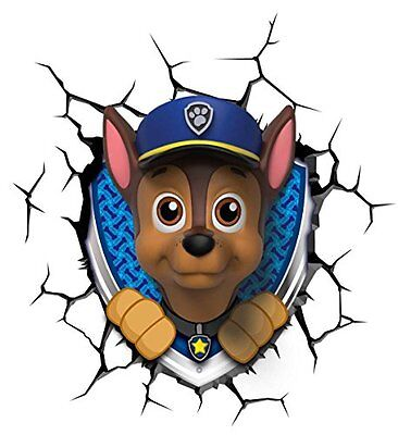 Paw Patrol 3D LED Chase Wall Decoration Light Kids Room Fun Ideal Gift NEW Lamp