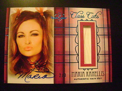 2012 Benchwarmer Hot for Teacher Maria Kanellis Class Cuts & AUTO BLUE Ser# 2/3