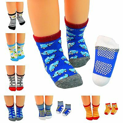 Lystaii 6 Pairs Anti-slip Soft Warm Cotton Baby Children Thick Socks for 1-3