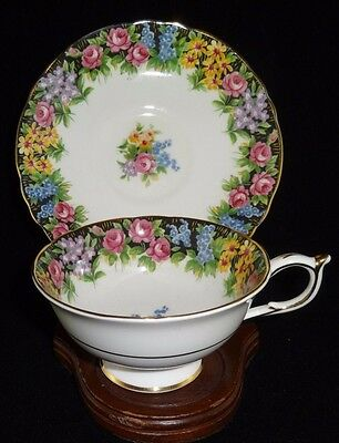 Vintage Paragon Tea Cup and Saucer  English Fine Bone, Made in England