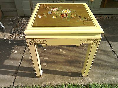 Stunning Antique chinese hand painted small table = Early 20th century