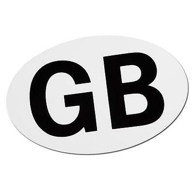 2 x Large Magnetic GB Stickers  European Approved Size For Motoring Abroad