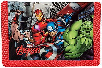Official Marvel Avengers Boys Trifold Money Change Notes Wallet Gift New