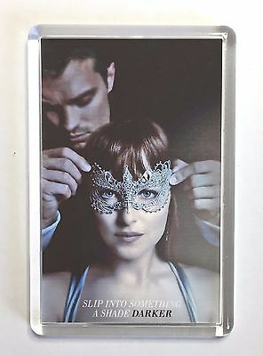 Fifty Shades Darker Dakota Johnson Dornan movie poster Fridge Magnet Keyring