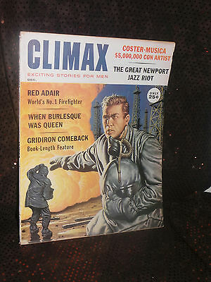 Climax: Exciting Stories for Men magazine December 1960