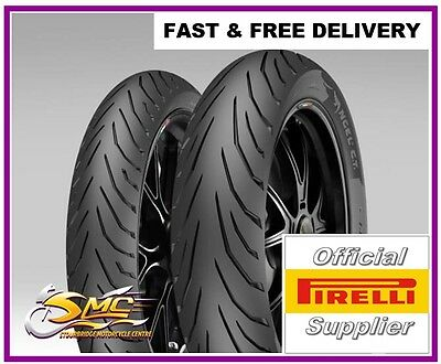 KAWASAKI ER-5 ER500 PIRELLI ANGEL CiTy Motorcycle Tyre Pair TL