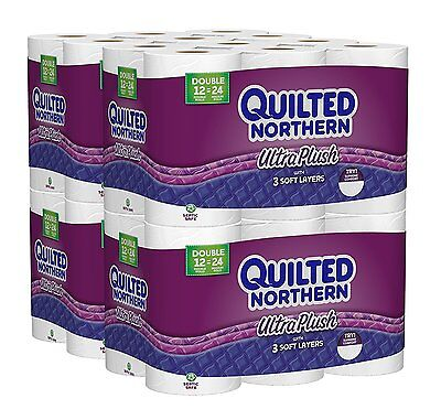 48 Double Rolls Quilted Northern Ultra Plush Case Bath Room Toilet Tissue Paper