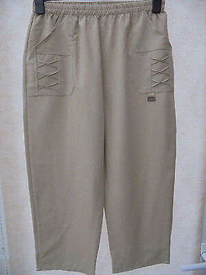 LADIES  CROPPED LEISURE TROUSER STONE SIZE 8 - 10 (T2) NEW (ref 142)