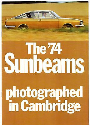 Sunbeam Alpine Rapier H120 Fastback 1973-74 UK Market Sales Brochure Arrow