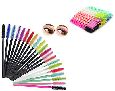Silicone Disposable Mascara Wand Brush Eyelash Travel Makeup Brushes UK