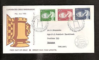 Candidates CHESS Tournement Curacao 1962 Netherlands Antillers fdc