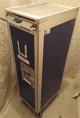 BMI Baby Aircraft Galley Catering Service Trolley Airline Half Cart +Drawers