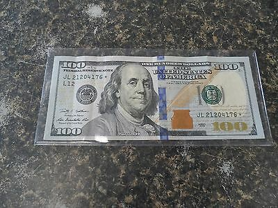2009 Series A $100 Dollar Star Serial Number Note One Hundred Bill Currency