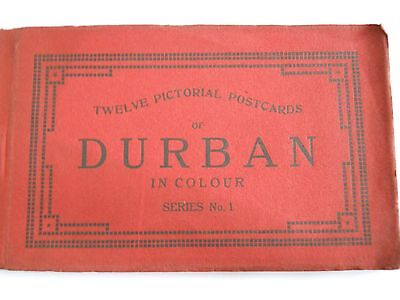 OLD POSTCARD SET OF DURBAN SOUTH AFRICA 12 colour pictorial cards