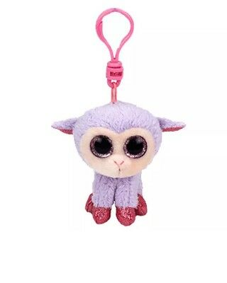 TY Basket Beanie Baby - Lilli the Lamb with Plastic Clip (3 inch) -MWMT
