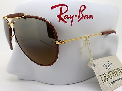 RayBan Bausch & Lomb Leathers Aviator 58mm Uber Rare Gradient Mirrors NOS 'TGM'