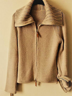 Beau Pull Gilet Beige Marque Oxbow  Taille M 40 42 Haut Zippe Veste