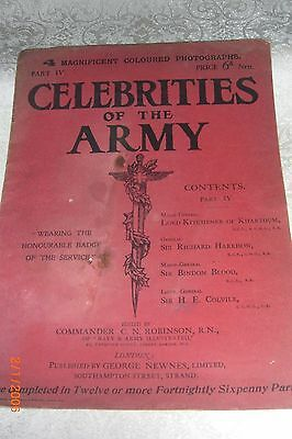 ORIGINAL Large 1902 Booklet 'CELEBRITIES OF THE ARMY' with coloured photo's