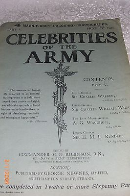 ORIGINAL Large 1902 Booklet 'CELEBRITIES OF THE ARMY' with coloured photo's P5
