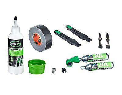 Slime Tubeless Ready Bike Tyres Puncture Repair Kit Tape Sealant CO2 Inflator