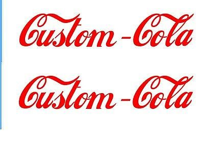 Cola Soda Decal CUSTOM SIZE/COLOR FONT OR LOGO Advertising Machine Drink