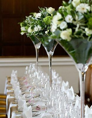 50cm tall Martini glass for wedding table centre piece. (25cm wide)